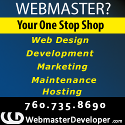 Webmasters and hosting San Diego, California