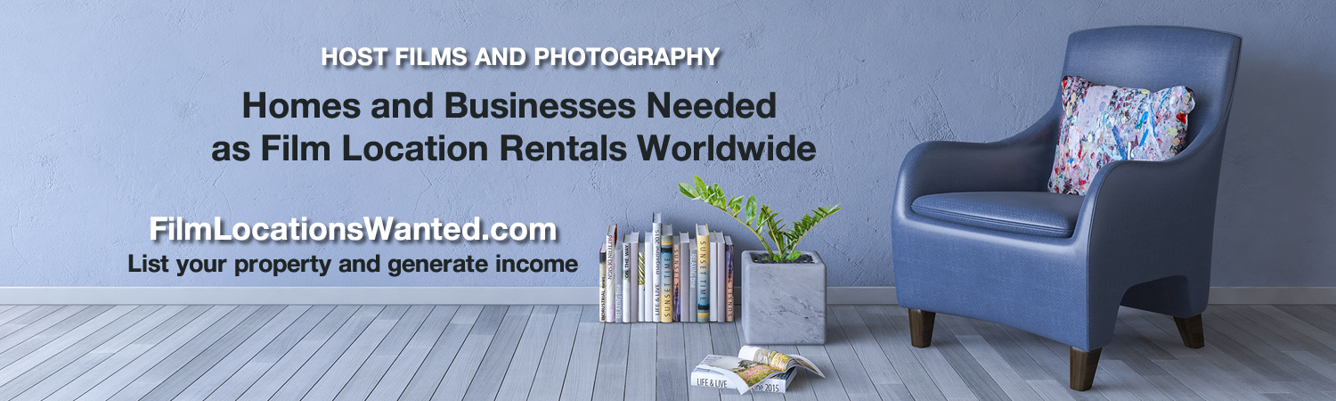 List filming homes locations rentals film television photography
